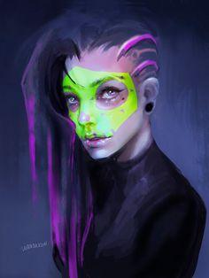 Sombra by WANDAKUN.deviantart.com on @DeviantArt - More at https://pinterest.com/supergirlsart #overwatch #fanart