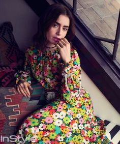 Lily collins for inStyle