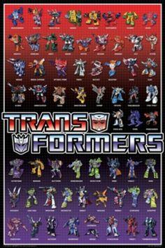 Transformers Line Up Poster Print (24 X 36) - Item # SCO4122 - Posterazzi