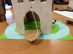Castle with draw bridge! Primary PGCE eat your heart out