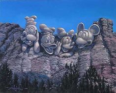 Mickey Mouse - Mount Mickeymore - Original - Rodel Gonzalez - World-Wide-Art.com