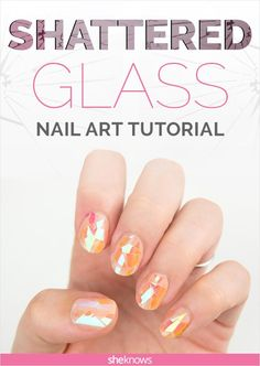 Shattered glass nails are not as hard as they look. Try this tutorial and you'll believe us.