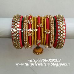 Silk Thread Bangles, Thread Jewellery, Bangle Set, Bracelet Set, Indian Jewelry, Quilling, Handcrafted Jewelry, Actresses, Bridal