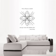 A Differential Geometric Flower Vinyl Wall Decal by Binary Axiom