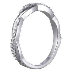 Infinity Diamond Wedding Band