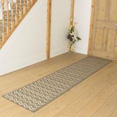 Tweed Hallway Carpet Runner Chevron