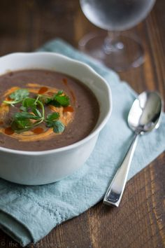 Easy Black Bean Soup - 5 minutes total! Versatile and delicious.