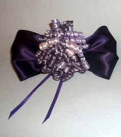 Purple Bow & Lavender with Pink Cork Screw Hair by JENSTARDESIGNS, $4.50