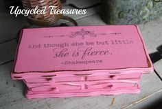 Upcycled Vintage 1980's jewelry box! Painted with homemade chalk paint and a pretty graphic added