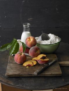 Still Life~ Sliced Peaches For A Peach Strudel?~ Leigh Beisch
