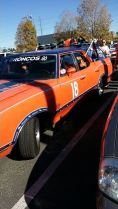 Broncos car at Sports Authority Field at Mile High aka Mile High Stadium.