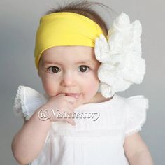 White Sequin  bow Head wrap  Baby Headband  infant by NeAccessory