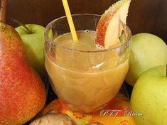 Centrifugato di zenzero, mela e pera. #zenzero #mela #pera #ricetta #succo #centrifugato #estratto #frutta #bibita #recipe #italianfood #italianrecipe #PTTRicette