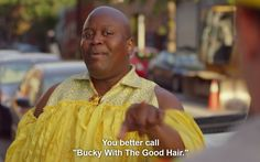 """That time Titus Andromedon did Beyonce better than Beyonce. """"Bucky with the good hair."""" XD XD XD. Season 3 of Unbreakable Kimmy Schmidt."""