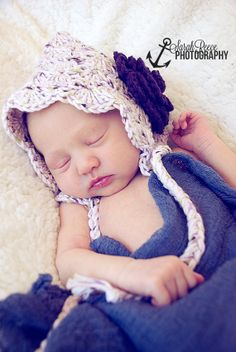 Baby Bonnet Baby Pixie Hat Vintage Style by threekittensknitting, $16.00 Vintage Style, Vintage Fashion, Baby Bonnets, Baby Needs, Pixie, Crochet Hats, Tea, Knitting, Trending Outfits