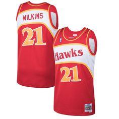 3dd46feca Dominique Wilkins Atlanta Hawks Mitchell   Ness 1986-87 Hardwood Classics  Swingman Jersey - Red