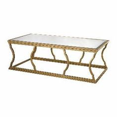 Lazy Susan Metal Cloud Coffee Table, Antique Gold Leaf, Mirror - 114-114 from SHOPfreely.com at SHOP.COM