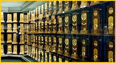 The UCLA Athletics Hall of Fame in the J.D. Morgan Center houses all of UCLA's national-best 108 NCAA Championship trophies.