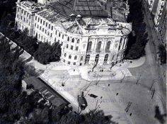 Warszawa międzywojenna - plac Politechniki Warsaw, Homeland, Old Photos, Lost, Black And White, City, Historia, Old Pictures, Blanco Y Negro