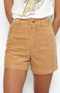 Afends Seventies Cord Shorts - Tan Cord from peppermayo.com