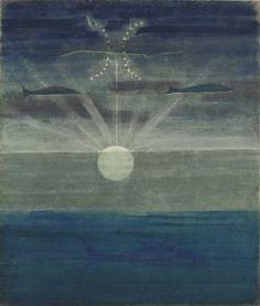 Mikalojus Konstantinas Ciurlionis THE SUN IS PASSING THE SIGN OF PISCES Tempera on paper. 1906 / 7.