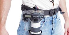 Take your DSLR everywhere. The Capture® Camera Clip System rigidly holds your camera on any strap or belt, keeping it secure and accessible during any physical activity.