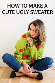 ugly sweater have become cute and trendy. instead of buying them at target or nordstrom make your own easily with a hot glue gun. #diy #craft