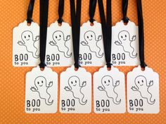Halloween Tags  Happy Halloween Gift Tag Set of 8 by MyPrettyPaper
