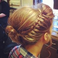One sided french braid