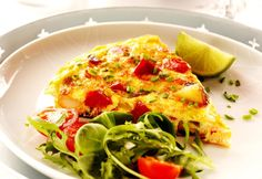 Quick and easy tomato omelette