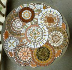 Retro Mosaic Table by MedallionHouse on Etsy, $350.00