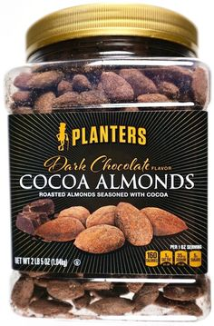 Planters Dark Chocolate Cocoa Roasted Almonds 37oz Jumbo Container #Planters