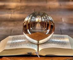 Crystal Ball and old book: