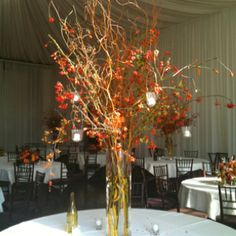 Winery wedding center piece