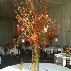 Winery wedding center piece
