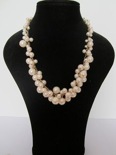 Sale 2013 new necklacehandmade White Crystal with Bib by louxinyan, $10.99