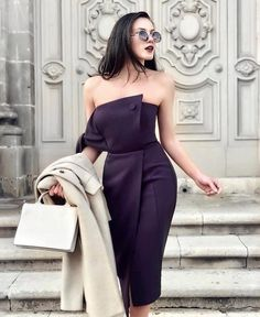 Stylish 💋 via for shopping link in my bio 👆 💋 Simple Dresses, Elegant Dresses, Pretty Dresses, Beautiful Dresses, Short Dresses, Classy Dress, Elegant Outfit, Classy Outfits, Chic Outfits