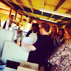 """""""#adstudents getting digital printer experience from the excellent John from Armadillo Print """" - thx @northamptonSU"""