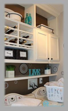 Cristina showed us how to take the cabinets in her laundry room up to the ceiling and create more storage!