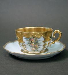Limoges Martial Redon mocha cup mocha cup, limog martial, cups, tea pot, saucer, tea cup, teacup, china, martial redon