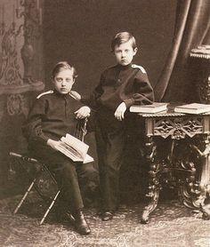 """Grand Dukes Konstantin and Dmitri Konstantinovich Romanov of Russia. """"AL"""""""