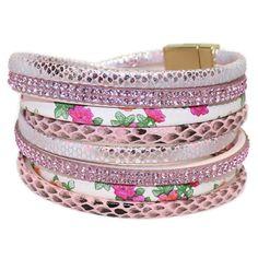 Stijlvolle armband wrap in het roze