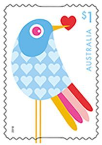 Sello: Love (Australia) (With Love Going Postal, Australia, Stamp Collecting, Bird Art, Fashion Sketches, Postage Stamps, Paper Crafts, Printables, Birds