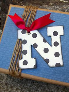 A beautiful way to personalize your gift wrap this holiday