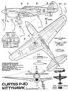 [aircraft] Curtiss P-40 Warhawk (1939-1944) | SMCars.Net - Car Blueprints Forum