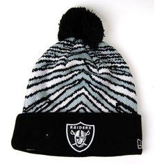 New Era Zubaz Pom Oakland Raiders Hat - Black