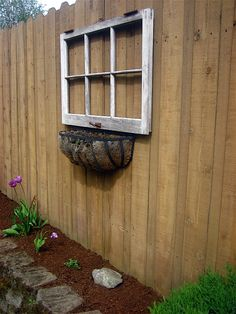 decorating using old fence posts | also love this idea, a great use for those beautiful old window ...                                                                                                                                                      More