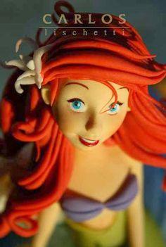 Arial, The Little Mermaid Cake Topper | by Carlos Lischetti Sugar Art