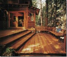 One day, I shall have a deck. And shade. And a glass of sweet tea.
