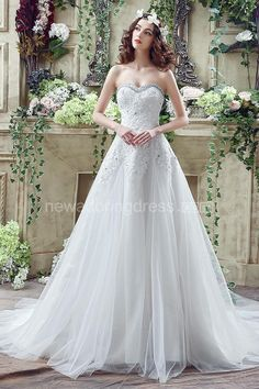 US$107.90-Glamorous Sequined Lace Tulle 2016 Wedding Dress with Corset Back.  https://www.newadoringdress.com/glamorous-sequined-lace-tulle-2016-wedding-dress-court-train-lace-up-p710916.html.  Free Custom-made & Free Shipping at best wedding dresses, Lace wedding dress, modest wedding dress, strapless wedding dress, backless wedding dress, wedding dress with sleeves, mermaid wedding dress, plus size wedding dress. We have great 2016 fall Wedding Dresses on sale at #NewAdoringDress.com…